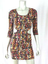 FOREVER 21 S Trendy Naked Waistline Sexy Tunic Fitted Coktail Sun Mini  Dress