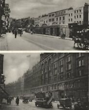 HARRODS. Brompton Road as it appeared in 1901 and again in 1926 1926 old print
