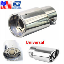 Chrome Stainless Steel Round Exhaust Pipe Tail Throat Muffler Tip For Auto Cars