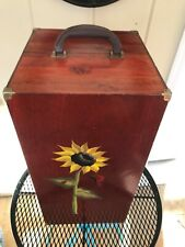 """Vintage Large Solid Wood Doll Case/Trunk 22"""" x 12"""" x 12"""" Euc!"""