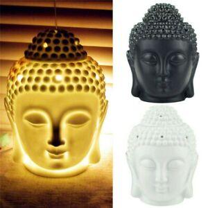 Thai Buddha Head Wax Melt Oil Burner Home Fragrance Ceramic Ornament Gift