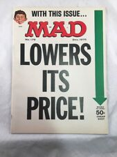 Mad Magazine # 179 December 1975 Lowers Its Price Front Cover Alfred E Neuman