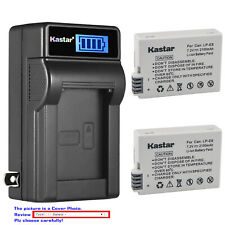 Kastar Battery LCD Wall Charger for Canon LP-E8 LC-E8 & Canon EOS 600D Camera