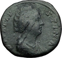 Faustina I 146AD Big Rare Sestertius Ancient Roman Coin Immortality i60132