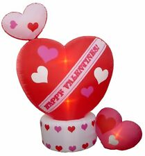 Valentine Air Blown Animated Inflatable Yard Lawn Decoration Rotating Top Heart