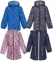 New Kid Girls Boys Printed Zip Up Hooded Jacket Coat Kagool Outdoor Rain Mac