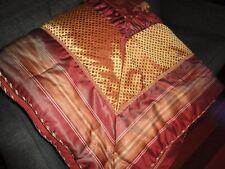 CROSCILL HERITAGE RED FLORAL STRIPE CALIFORNIA KING/KING COMFORTER 110 X 96