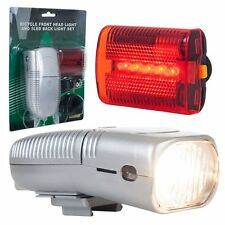 NEW Bicycle Front Headlight and 5 LED Back Tail light Combo Set