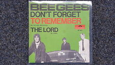 Bee Gees - Don't forget to remember 7'' Single SPAIN