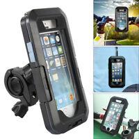 360° Motorcycle Bike Phone Holder Waterproof Case Handlebar For iphone 7/8/6/6s