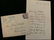 """Edward Rose 1898 Autograph Letter Adapted """"Prisoner of Zenda"""" For The Stage"""