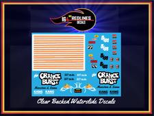 """1/24 Scale '55 Chevy """"Orange Burst"""" Gasser Decal SCR-124-0002"""