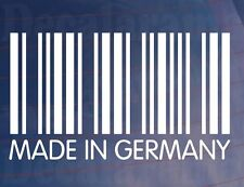 MADE IN GERMANY Barcode Novelty Vinyl Sticker Ideal for German Car/Van/Window