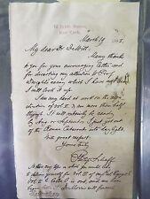 1883 Philip Scott Signed Letter