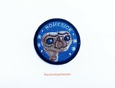 Patch E.T. ET Extra-Terrestrial iron on applique Embroidered character Spielberg