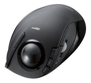 ELECOM M-DT2DRBK Wireless Trackball Mouse Tilt 8 Buttons Black Japan Free ship