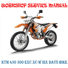KTM 450 500 EXC XC-W SIX DAYS 2013-2016 WORKSHOP SERVICE MANUAL (DIGITAL e-COPY)