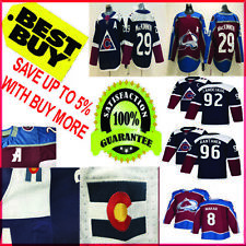 Colorado Avalanche Hockey Jersey Men 29 Nathan MacKinnon 8 Cale Makar navy S-3XL