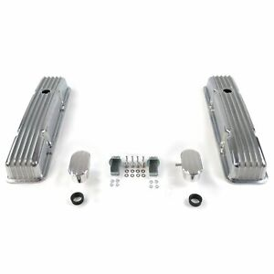 Vintage Tall Finned Valve Covers w/ Breathers (PCV)Small Block Chevy 1937 buick