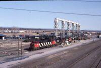 CN CANADIAN NATIONAL Railroad Locomotives Train Yard Original 2005 Photo Slide