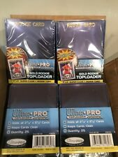 LOTS OF ULTRA PRO ROOKIE TOP LOADERS AND SOFT SLEEVES (100 COUNT).