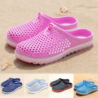 Women Men Clog Summer Slippers Beach Shoes Hollow-Out Sandals Bath Breathable