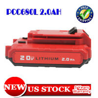 New For PORTER CABLE PCC680L PCC681L 20 Volt Max Lithium-Ion 20V 2.0 Amp Battery