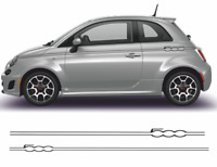 Fiat 500 Autocollants bandes  kit stickers décoration adhésif autocollant decal