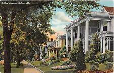Alabama postcard Selma Dallas Avenue residential street scene houses
