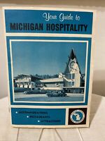 Vintage 1960's Michigan Hospitality Tourist Travel Guide Brochure Booklet