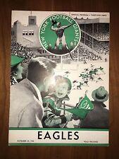Official Philadelphia Eagles vs. New York Giants November 20, 1955 Program