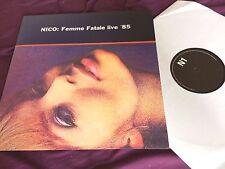 Nico – Femme Fatale Live '85 RARE LP - NEAR MINT! velvet underground