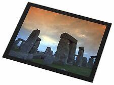 Stonehenge Solstice Sunset Black Rim Glass Placemat Animal Table Gift, PLA-SH1GP