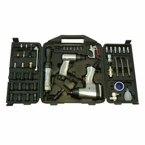 BlackLine Tools 50 pc Air Tool Kit Inc Ratchet & Impact Wrenches & Air Hammer