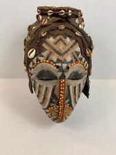 Antique Kuba Ngaady a Mwaash Royal Beaded Hooded Helmet Mask D.R. Congo