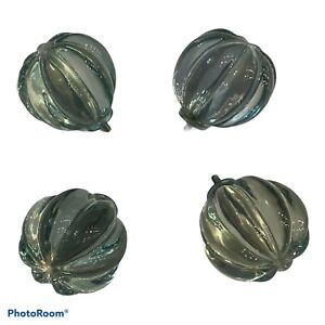 Pottery Barn Kids Clear Resin Round Decorative Curtain Rod Set of 4 Finials