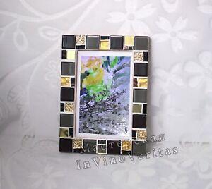 4x6 Frame Mosaic Photo Frame Light Teal Frame Photo Frame 4x6