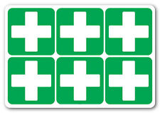 FIRST AID CROSS  Square  health and safety signs  Sticker (6 x 100x100mm)
