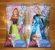 """Disney Frozen ELSA & ANNA Dolls 12"""" CORONATION DRESS SPARKLE Color Change Magic"""