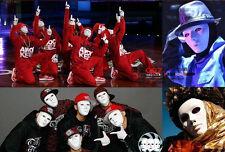 New Hipa Dance Drama Fancy White Blank Face Male elastic Mask Costume Accessory