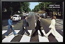 The Beatles Abbey Road Iconic Poster in Premium Black Wood Frame 24x36