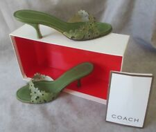 UNIQUE DESIGNER COACH CLARISSA OLIVE GREEN LEATHER WOMENS SHOES SIZE 6.5 M