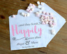 Personalised Wedding Sweet / Sweetie - Candy Cart Favour Bags - Happily Ever