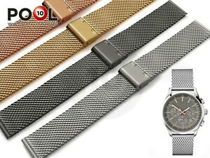 For HUGO BOSS Watch Mesh Milanese Steel Metal Strap Band Bracelet Buckle HQ
