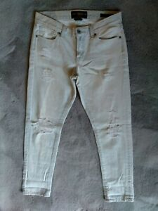 Lucky Brand Sienna Slim Boyfriend White Destroyed Skinny Jeans Size 4/27