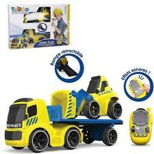 Tooko Ferngesteuertes Auto LKW Anhänger Baustellenfahrzeug mit Bulldozer Bagger