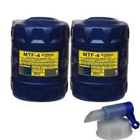 2x 20 Liter MANNOL Getriebeöl MTF-4 Getriebeoel 75W-80 Gear Oil + Auslaufhahn