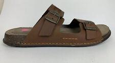 Clarks Men's Keften Step Slide Open Sandal Tobacco Nubuck Shoes Sz US 13 UK 12