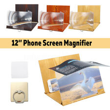 12'' Mobile Phone Screen Magnifier 3D HD Video Amplifier Smartphone Stand