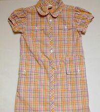 "Gymboree ""Butterfly Blossoms"" Button Front Plaid Shirt Dress, 12"